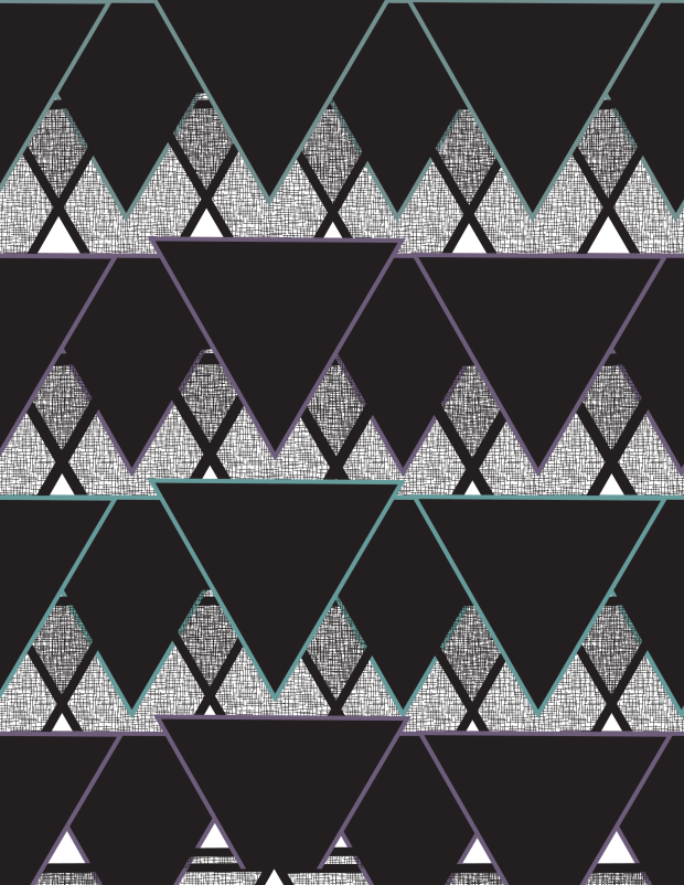 purplegreenpatterntriangle