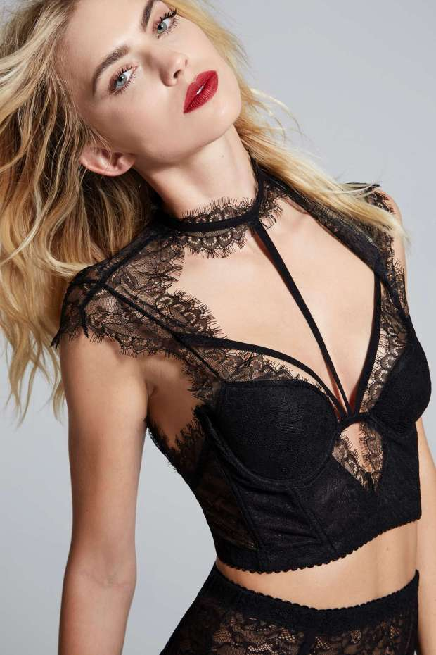 Love, Courtney by Nasty Gal Burn Black Lace Bustier | $88.00